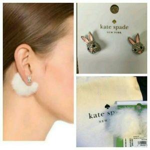 New! ♠ks Make Magic Bunny Puff Reversible Earrings